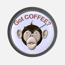 Got Coffee? Monkey Wall Clock
