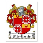 Fitz-Harris Family Crest Small Poster