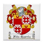 Fitz-Harris Family Crest Tile Coaster