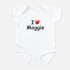 I Love Maggie (Black) Infant Bodysuit