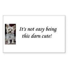 Cute Yorkie Rectangle Decal