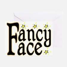 Fancy Face Greeting Card