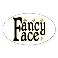 Fancy Face Oval Decal