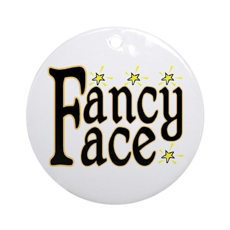 Fancy Face Ornament (Round)