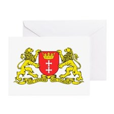 Gdansk, Poland city symbol Greeting Cards (Package