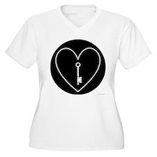 Chatelaine Women's Plus Size V-Neck T-Shirt