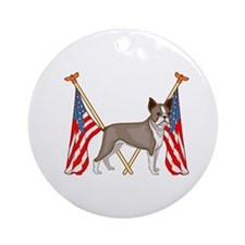 All American Boston Terrier Ornament (Round)