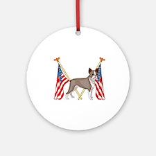 All American Boston Terrier Ornament (Round)