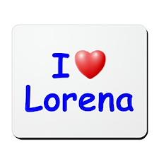I Love Lorena (Blue) Mousepad