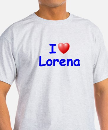 I Love Lorena (Blue) T-Shirt