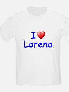 I Love Lorena (Blue) T-Shirt