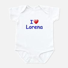 I Love Lorena (Blue) Infant Bodysuit