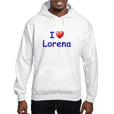 I Love Lorena (Blue) Hoodie Sweatshirt