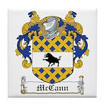 McCann Family Crest Tile Coaster