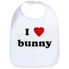 I Love bunny Bib