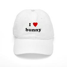 I Love bunny Baseball Cap