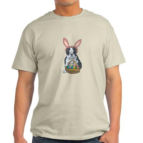 Boston Terrier Easter Bunny Light T-Shirt