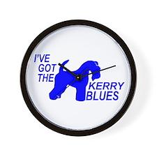 Cute Kerry blue terrier Wall Clock