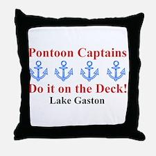 Pontoon Captains Throw Pillow