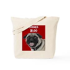 Pug Kisses Tote Bag