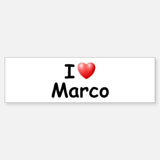 I Love Marco (Black) Bumper Bumper Bumper Sticker