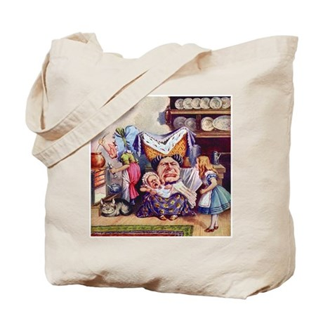 ALICE MEETS THE DUCHESS Tote Bag