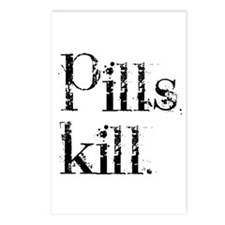 Pills kill. Postcards (Package of 8)