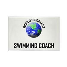 World's Coolest SWIMMING COACH Rectangle Magnet