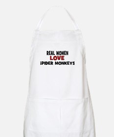 Real Women Love Spider Monkey BBQ Apron