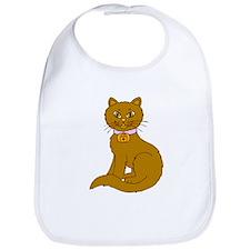 Brown Cat Bib