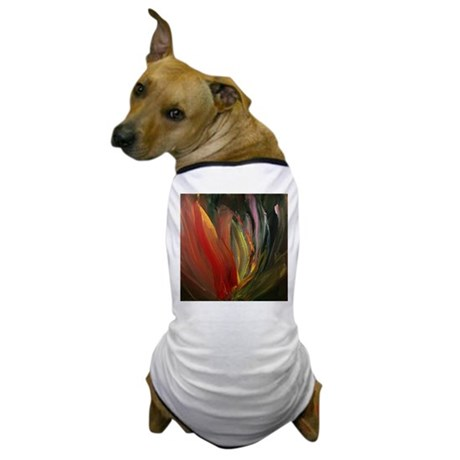 CLEMATIS FLOWER~ABSTRACT PAIN Dog T-Shirt