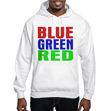 BLUE GREEN RED Jumper Hoody