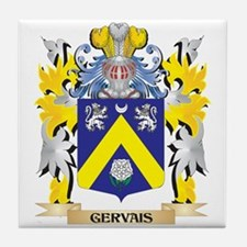 Gervais- Coat of Arms - Family Crest Tile Coaster
