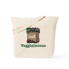 Veggielicious Vegetarian Vegan Tote Bag