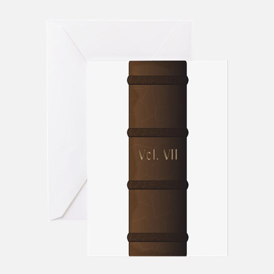 Book Spine Vol. 7 Greeting Cards