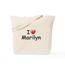 I Love Marilyn (Black) Tote Bag