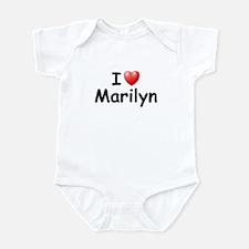 I Love Marilyn (Black) Onesie