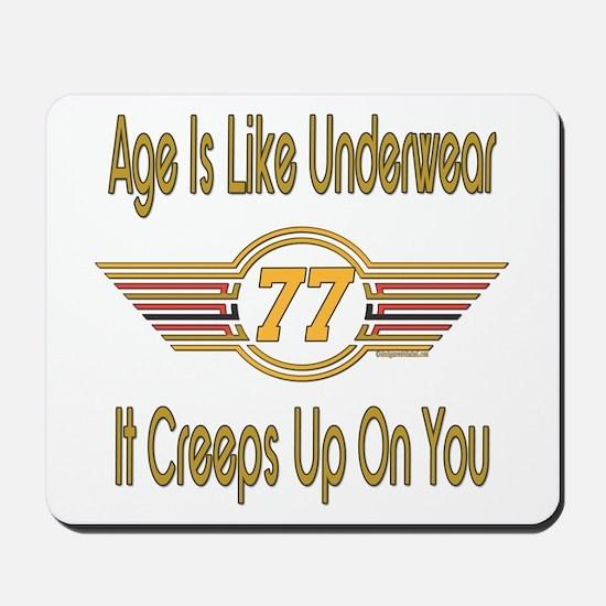 Funny 77th Birthday Mousepad