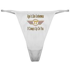 Funny 77th Birthday Classic Thong