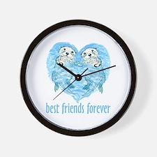 best friends forever Wall Clock