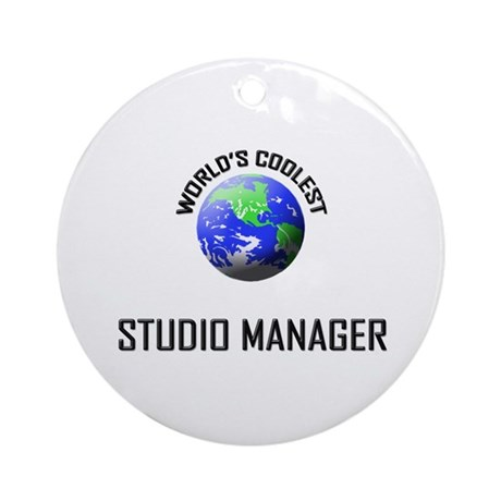 World's Coolest STUDIO MANAGER Ornament (Round)