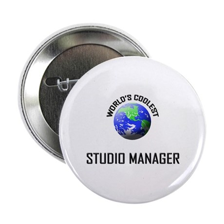 "World's Coolest STUDIO MANAGER 2.25"" Button"
