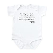 Bertrand Russell 2 Infant Bodysuit