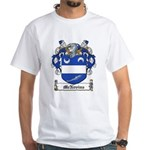 McNevins Family Crest White T-Shirt