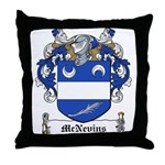 McNevins Family Crest Throw Pillow
