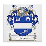 McNevins Family Crest Tile Coaster