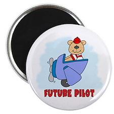 "Teddy Future Pilot 2.25"" Magnet (100 pack)"