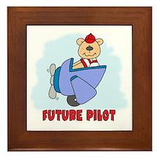 Teddy Future Pilot Framed Tile