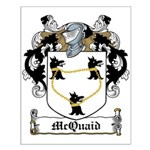 McQuaid Family Crest Small Poster