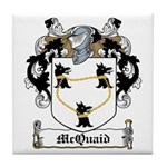 McQuaid Family Crest Tile Coaster